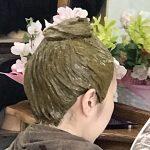40~50代のヘナ塗りはヘナ盛り 螺髪仕上げ 純国産沖縄RQヘナ