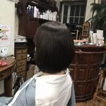 縮毛矯正毛に丸みを持たせる切り方