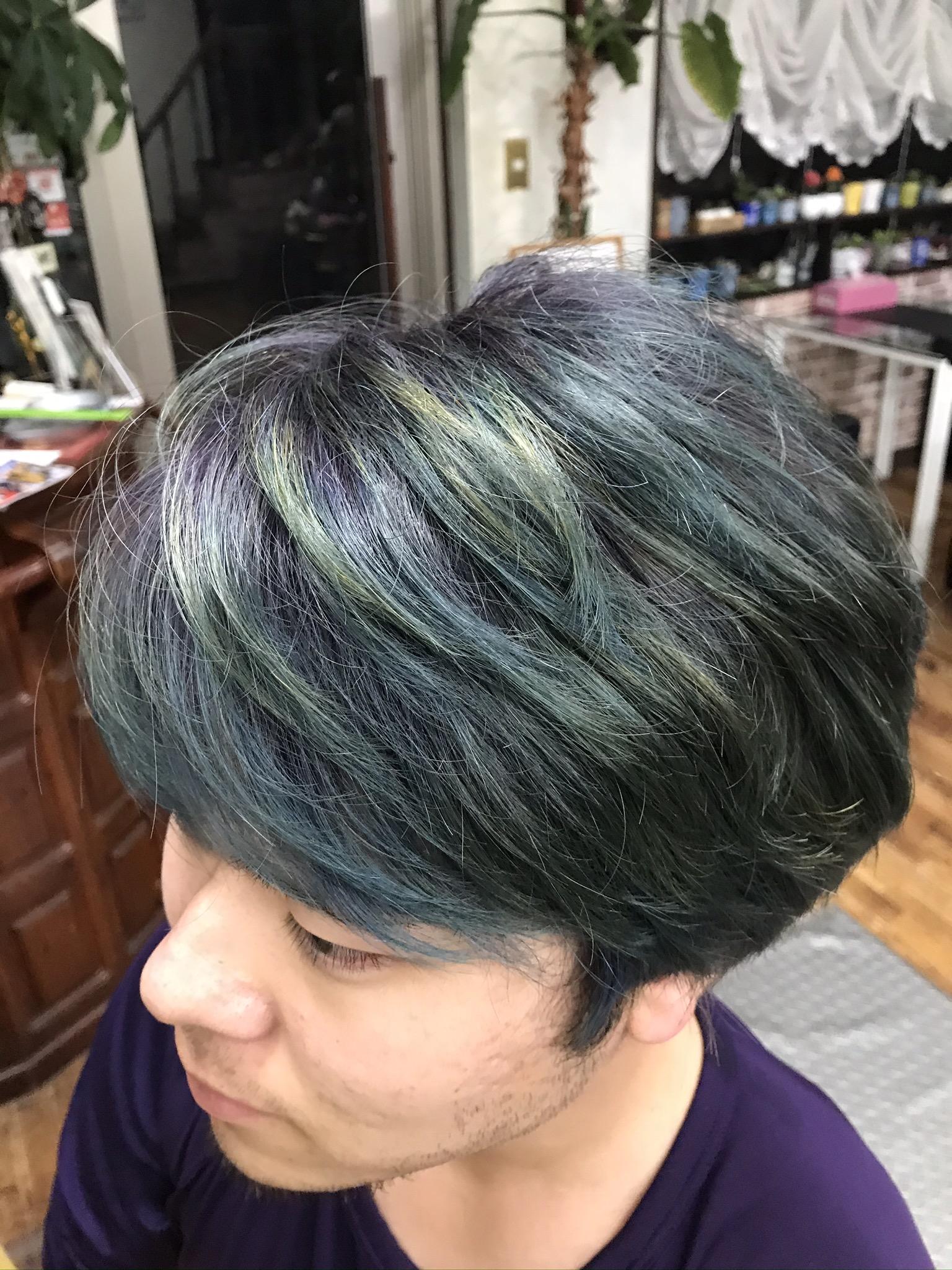 アイス色カラー ブルーパープル