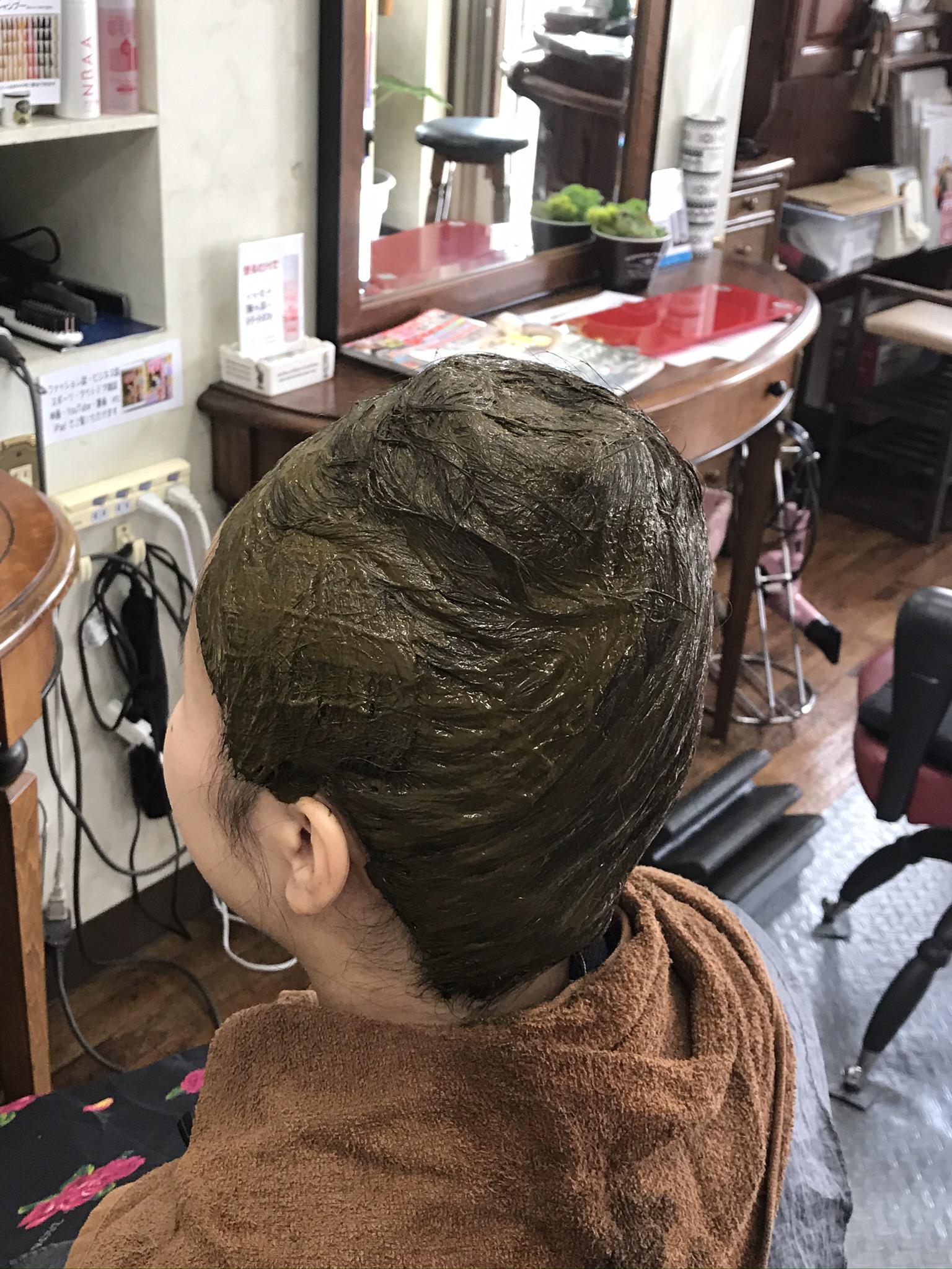 ウケ狙いではなく 螺髪 前方後円墳 体に優しいヘナの塗り方