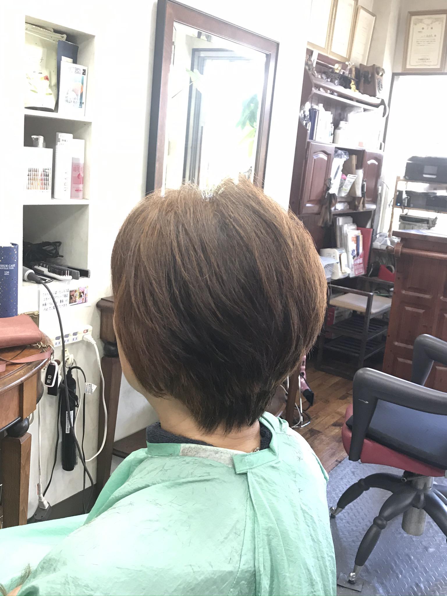 白髪70%にヘナとくせ毛カット