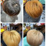 北欧風金髪もアレルギーなく作れます #道具も分別 #ヘアカラーアレルギー対応