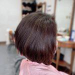 #前下がりボブ #キュビスムカット #くせ毛カット #髪の重なりを取る